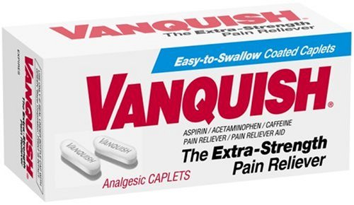 Vanquish Pain Reliever, 100 Caplets per Box, (Pack of 2)