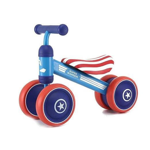 YAXuan Bicicleta de Equilibrio para niños, Patinete para ...