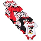 Disney Baby Mickey 5 Pack Bodysuits, Multi/Black, 3-6 Months