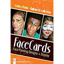 Halloween - Face Painting Cards - 12 Step By Step Picture Demos, in 4x6 Card Format Designed By Ashley Pickin