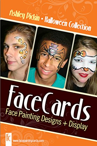 Halloween - Face Painting Cards - 12 Step By Step Picture Demos, in 4x6 Card Format Designed By Ashley Pickin -