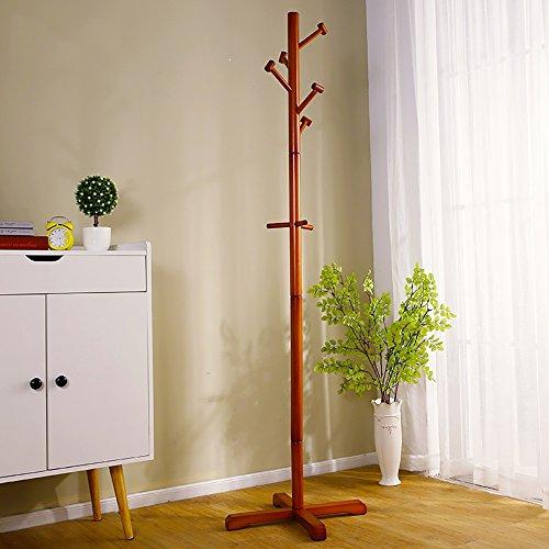 LQQGXL LQQGXLModern minimalist coat rack, Coat rack landing bedroom hanger simple wood coat rack by (Color : 4#) by LQQGXL