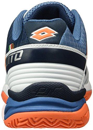 Lotto Esosphere Cly, Zapatillas de Tenis para Hombre Azul / Naranja (Blu Avi / Fant Fl)
