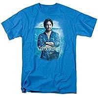 Trevco Men's Californication Short Sleeve T-Shirt, Turquoise, Medium