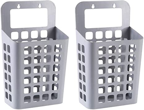 Dirty Clothes Hanging Laundry Basket Wall-mounted Bathroom Storage Organizers