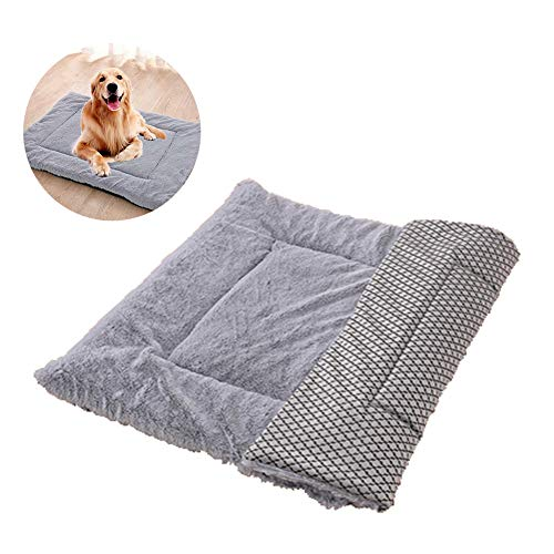 Pet Ultra Soft Sleeping Mat Crate Pad for Small Medium Large Dogs,Warm Winter Anti-Slip Dog Cushion for Pet Kennel Bed…