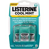Listerine Cool Mint Pocketpaks Breath Strips Kills Bad Breath Germs, 24-Strip Pack, 3 Pack