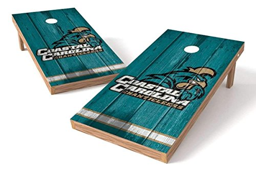PROLINE NCAA College 2' x 4' Coastal Carolina Chanticleers Cornhole Board Set - Vintage - Coastal Beans