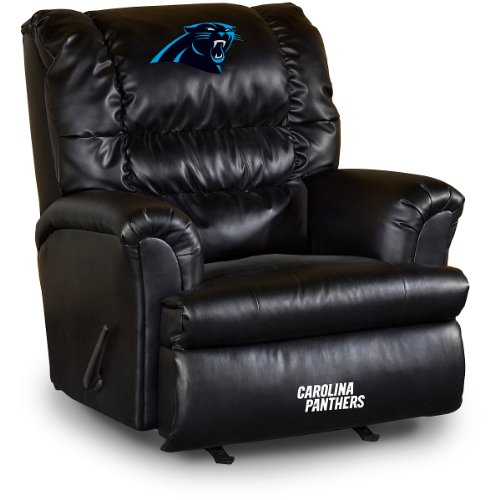 Imperial Officially Licensed NFL Furniture: Big Daddy Leather Rocker Recliner, Carolina -