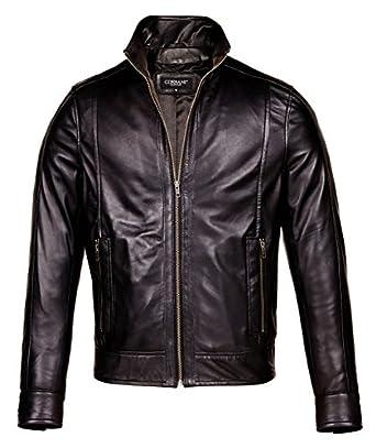 Mens Black Leather Motorcycle Jacket - Mens Designer Leather ...