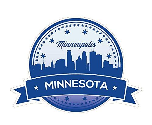 1036 Minneapolis Skyline 4'x5.5' Decal / Travel Sticker