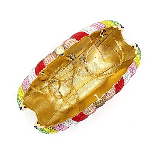 Diamant Onecolor De à Main En Luxe En à Femmes Main Sac Sac Diamant Pour SxO7Oz