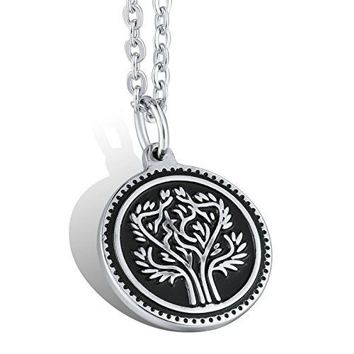 Sprenger Steel Choker (MoAndy Stainless Steel Jewelry Necklace Chain Round Silver 3.5x2.5CM S.S Necklace)