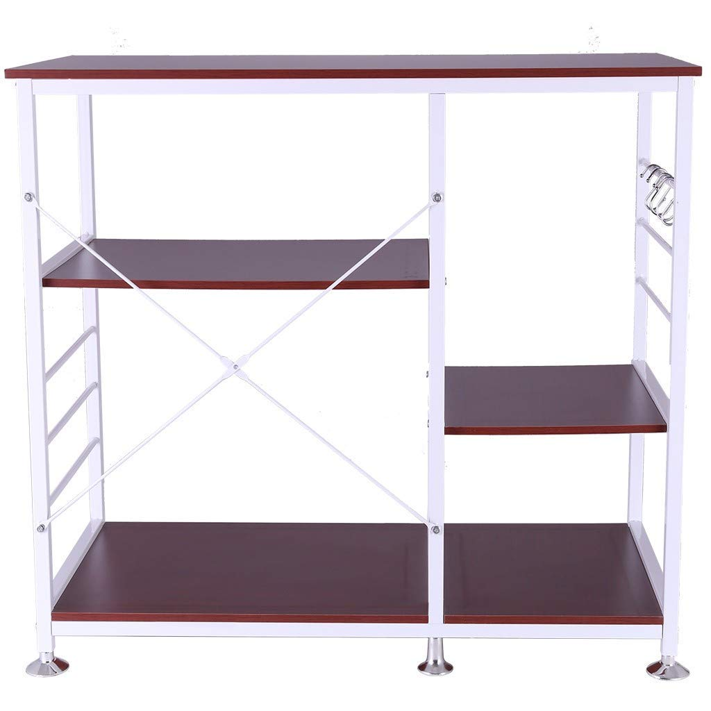 Clearance! 3-Tier Multifunctional Kitchen Rack Microwave Stand Oven Floor Shelf Storage Cupboard,Baker's Rack,Spice Rack Organizer Workstation (Ship from USA) by Alalaso