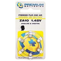 Premium Batteries Premium Plus Zinc Air Hearing Aid Batteries ZA10 1.45V Size 10, PR70, P10 (240 Batteries)