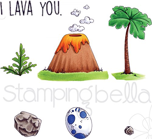 Stamping Bella EB528 Cling Stamps-Cave Kids Add Ons