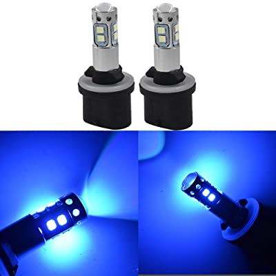 labwork 2X 880 884 885 890 892 893 899 8000K Ice Blue 50W LED Fog Light Daytime Running Light: Automotive