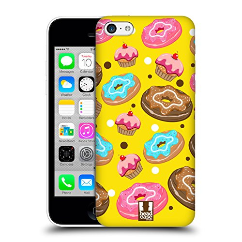 Head Case Designs Doughnut Delizie Cover Retro Rigida per Apple iPhone 5c