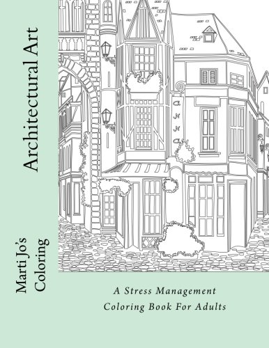 Architectural Art Stress Management Coloring product image