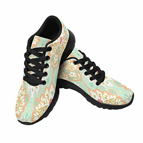 Interestprint Mujeres Jogging Running Sneaker Ligero Go Easy Walking Comfort Calzado Deportivo Multi 9