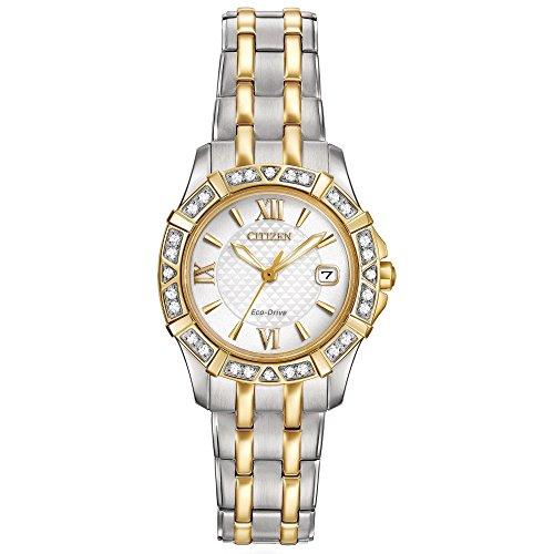 Citizen Women's 'Diamond' Quartz Stainless Steel Casual Watch (Model: EW2364-50A) by Citizen (Image #3)