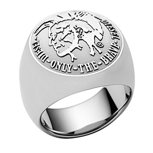 Diesel Herren-Ring Edelstahl BASIC Metallic