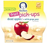 Gerber Graduates Fruit Pick-Ups Diced Apples, 5.5oz(us) 1 Pack.