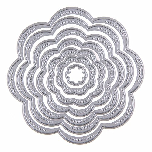 Cutting Dies Cut Metal Scrapbooking Love Heart Square Flower Star Sunflower Stencils Nesting Die for DIY Embossing Photo Album Decorative DIY Paper Cards Making Craft 9set (Set 5) by Eswala (Image #4)