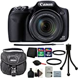 Canon PowerShot SX530 HS 16MP WiFi Digital Camera Black with 24GB Accessory Kit Black