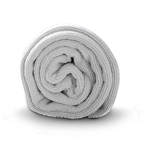 Luxe Beauty Essentials Microfiber Hair Towel For Drying Curly, Long & Thick Hair- Large 20 x 40 Grey from Luxe Beauty Essentials