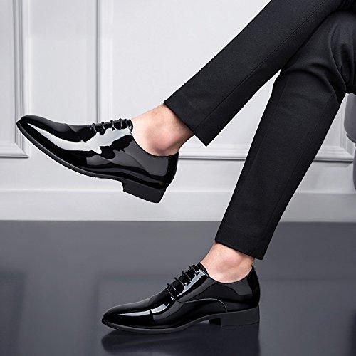 Da HGDR Business Scarpe Office Formali Uomo Derby Scarpe Lace Sposa Abito Pelle Black In Da Up aRaYr
