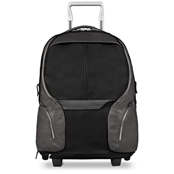 24ff9e50e913a6 Amazon.com | Piquadro Cabin Trolley with PC iPad Air Compartment Removable  Shoulder Straps, Black | Carry-Ons