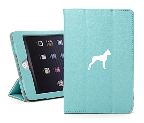 For Apple iPad Mini 1/2/3 Light Blue Faux Leather Magnetic Smart Case Cover Boxer ()