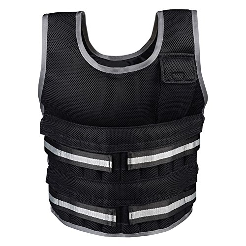 Nachvorn Adjustable Weighted Vest Workout Exercise Boxing Training Fitness, Max Loading 33LB(Empty) by Nachvorn