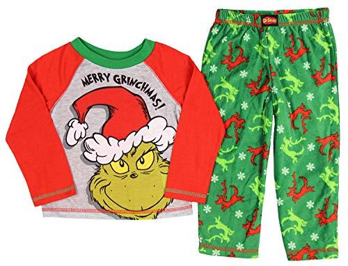 The Grinch Boys' Toddler Sleep Set, Green,