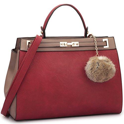 Red Designer Handbags: Amazon.com