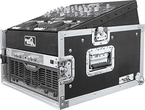 Road Ready RRM4U 10U Slant Mixer Rack/4U Vertical Rack System by Road Ready