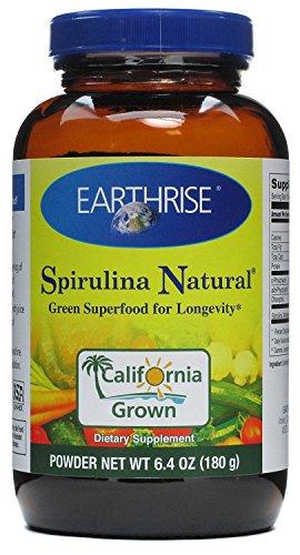 6.4 Ounce Spirulina - Earthrise Spirulina Natural Powder, 6.4 Ounce -- 3 per case.