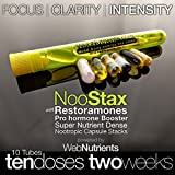 NooStax NZT-48- 10 Doses/2 Weeks+Restoramones Prehormones – Powerful Nootropic Brain-Boosting Capsule Stacks – All The Nutrition You Need+The World's Most Powerful Nootropic Stacks in Capsule Form (10)