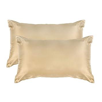 Sourcingmap - Fundas de almohada estándar de satén de lujo ...