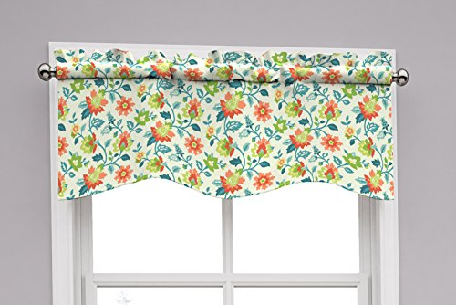 (Traditions by Waverly 14968052016CPI Set In Spring  52-Inch by 16-Inch Wave Window Valance, Capri )