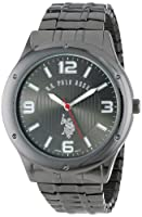 U.S. Polo Assn. Classic Men's USC80015 Oversized Gunmetal Black-Dial Expansion Watch
