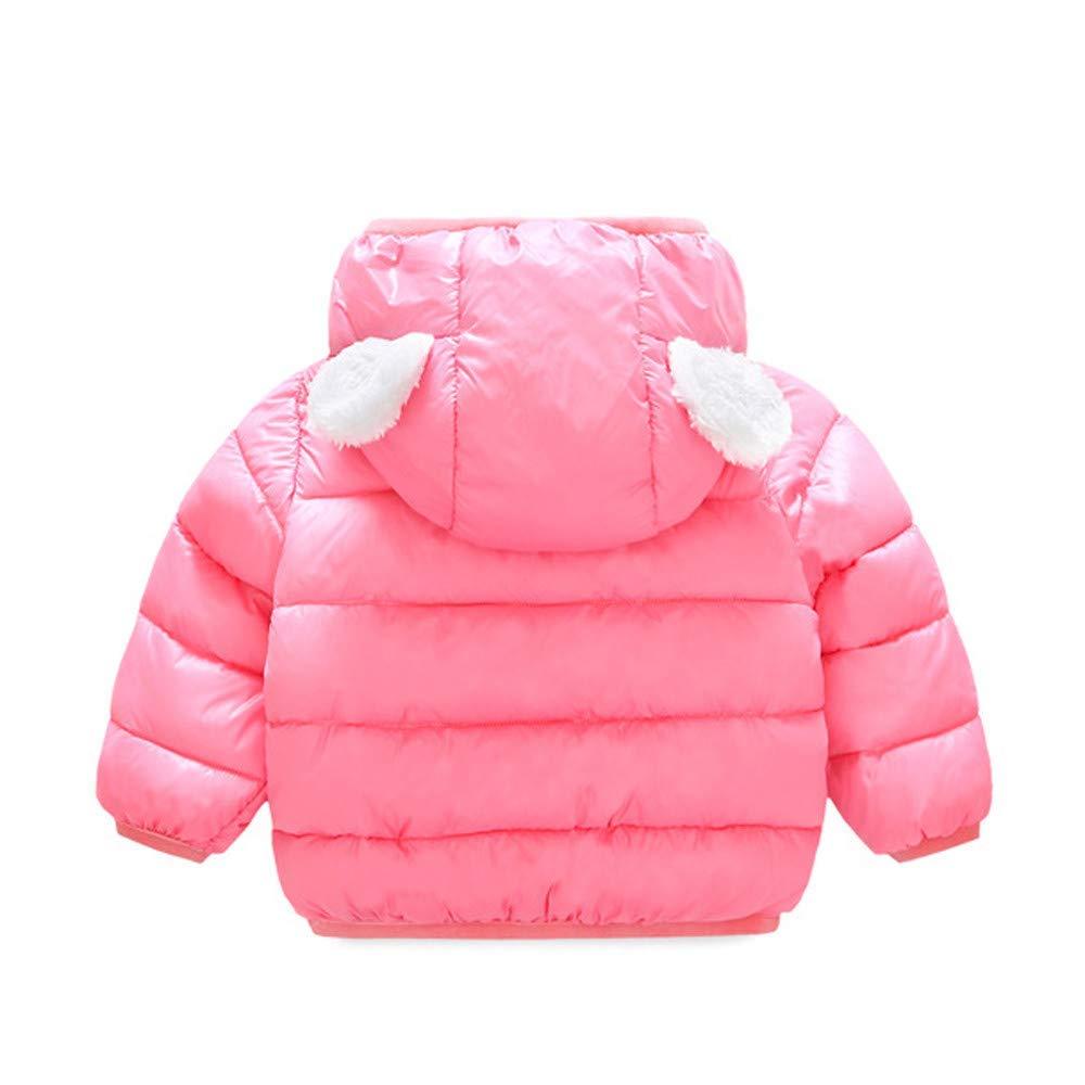 Dolwins Boys Girls Coats Children Kids Winter Warm Coats Jacket Zipper Thick Ears Snow