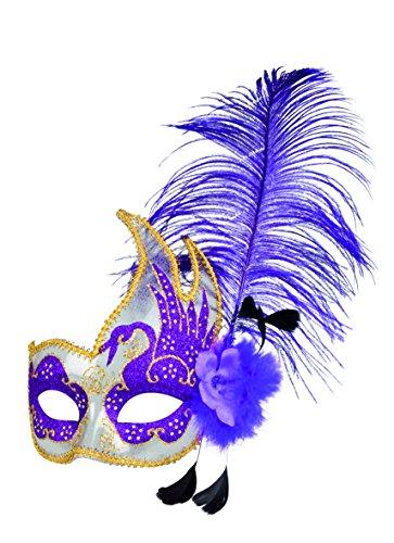 Cigno Bianco Costumes - Boland 00340 Mask Swan Venezia Flower