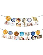 Outer Space Themed happy birthday Space Baby Photo Banner Wild One Monthly Photo Banner First Birthday Banner Monthly Photo Banner Solar System Banner