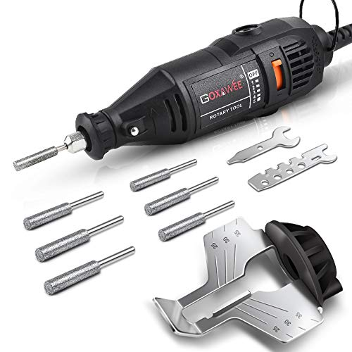 GOXAWEE Chainsaw Sharpener Kit 140W Power Chain Saw Sharpen Tool Set, Electric Blade Sharpening File Comes with 6pcs…