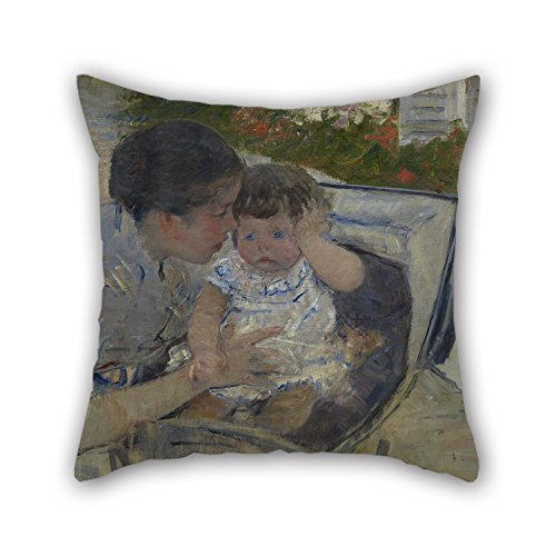 Artistdecor Oil Painting Mary Cassatt - Susan Comforting The Baby Pillow Shams 20 X 20 Inches / 50 By 50 Cm Gift Or Decor For Gf,gril Friend,study Room,chair,bedroom,girls - Twin Sides ()