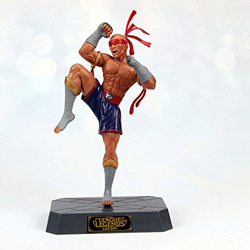 "Hot! LOL League of Legends LEE SIN Blind Monk 7"" Statue Figure PVC Toys No Box"