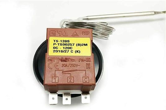 SUNWAN Kapillar-Auto-Thermostat K/ühler Ventilator Steuerschalter Universal verstellbar 0-120 /°C Heizung//K/ühlung mechanischer Thermostat