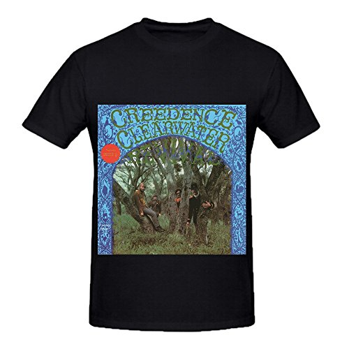 Price comparison product image Creedence Clearwater Revival Men O Neck Big Tall Tee Black